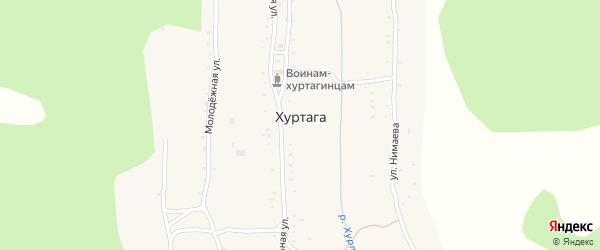 Местность Хажуу на карте улуса Хуртага с номерами домов