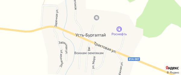 Улица Мира на карте улуса Усть-бургалтая с номерами домов