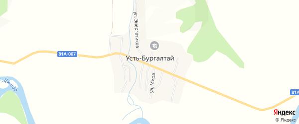Карта улуса Усть-бургалтая в Бурятии с улицами и номерами домов