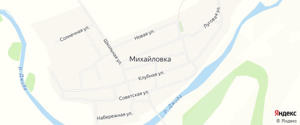 Карта села Михайловки в Бурятии с улицами и номерами домов