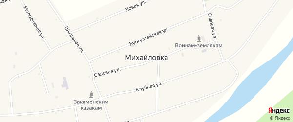 Местность Средний Бургалтай на карте села Михайловки с номерами домов