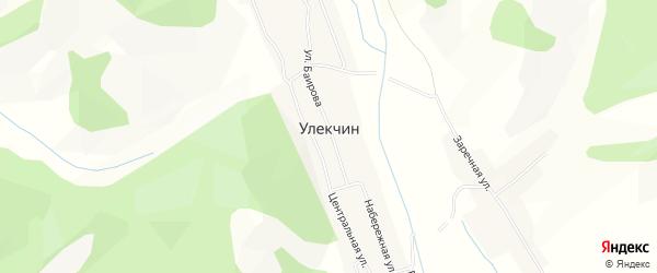 Карта улуса Улекчин в Бурятии с улицами и номерами домов
