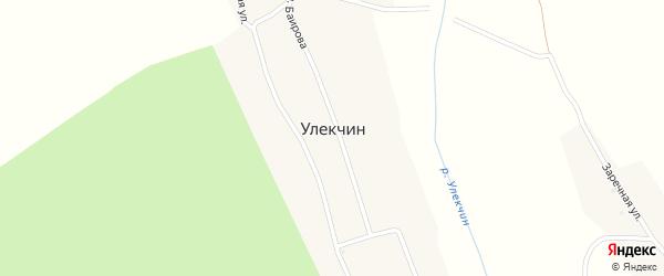Молодежная улица на карте улуса Улекчин с номерами домов