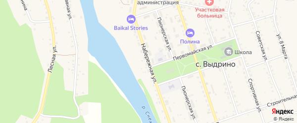 Набережная улица на карте села Выдрино с номерами домов