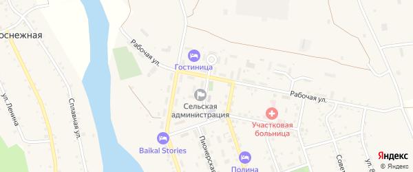Школьная улица на карте села Выдрино с номерами домов