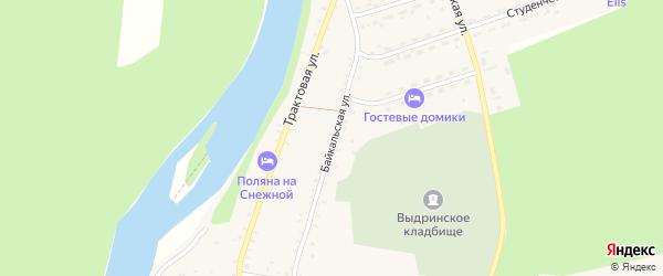 Байкальская улица на карте села Выдрино с номерами домов