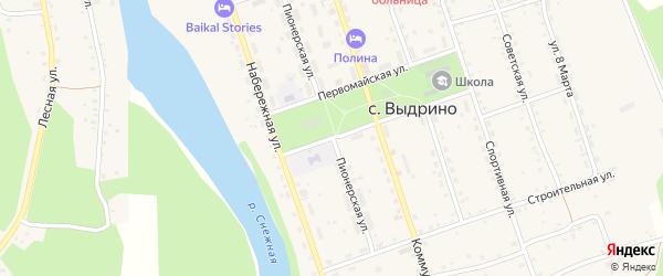 Пионерская улица на карте села Выдрино с номерами домов