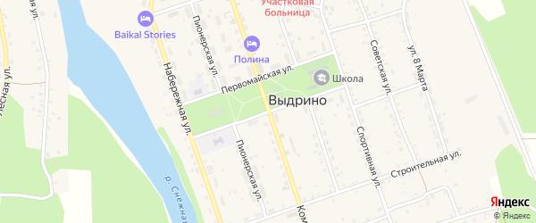Октябрьская улица на карте села Выдрино с номерами домов