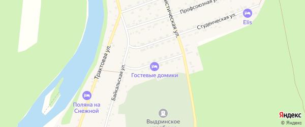 Солнечная улица на карте села Выдрино с номерами домов