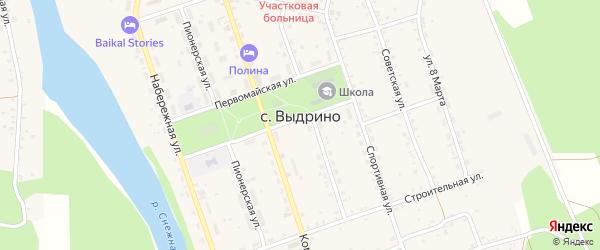 Дачная улица на карте села Выдрино с номерами домов