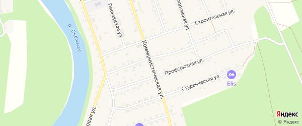 Коммунистическая улица на карте села Выдрино с номерами домов