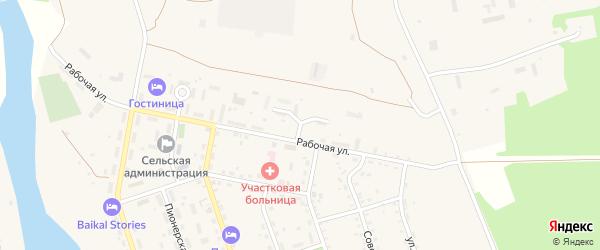 Больничный переулок на карте села Выдрино с номерами домов