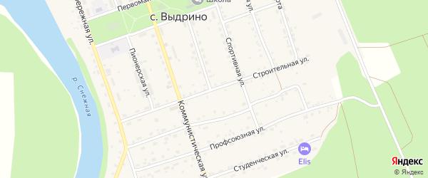 Строительная улица на карте села Выдрино с номерами домов