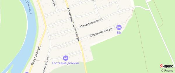 Студенческая улица на карте села Выдрино с номерами домов