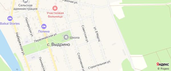 Советская улица на карте села Выдрино с номерами домов
