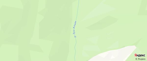 Карта местечка Зуна-Алцака в Бурятии с улицами и номерами домов