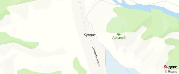 Карта села Хулдата в Бурятии с улицами и номерами домов