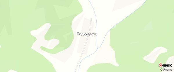 Карта села Подхулдочи в Бурятии с улицами и номерами домов