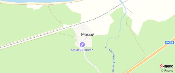 Горная улица на карте населенного пункта Мамая с номерами домов