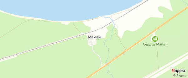 Карта населенного пункта Мамая в Бурятии с улицами и номерами домов