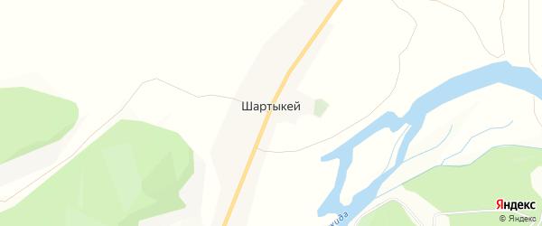 Карта села Шартыкея в Бурятии с улицами и номерами домов