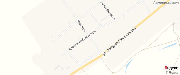 Новая улица на карте села Нижнего Торея с номерами домов