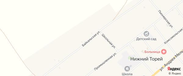 Байкальская улица на карте села Нижнего Торея с номерами домов