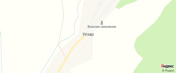 Центральная улица на карте улуса Улзар с номерами домов