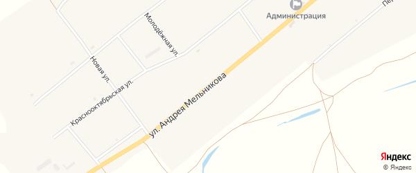 Улица им А.Мельникова на карте села Нижнего Торея с номерами домов