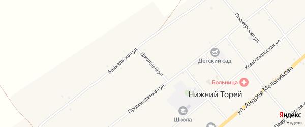 Школьная улица на карте села Нижнего Торея с номерами домов
