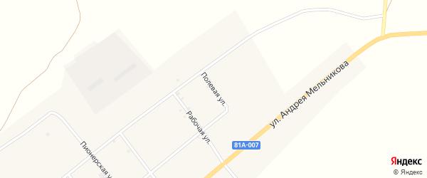 Полевая улица на карте села Нижнего Торея с номерами домов