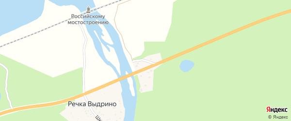 Улица Ветеранов Труда на карте поселка Речка Выдрино с номерами домов