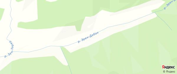 Карта местечка Верхний Эрен-Дабан в Бурятии с улицами и номерами домов