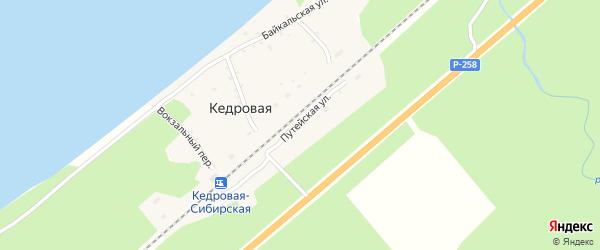 Путейская улица на карте поселка Сухого Ручья с номерами домов