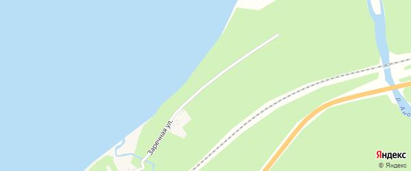 Заречная улица на карте поселка Кедровой с номерами домов