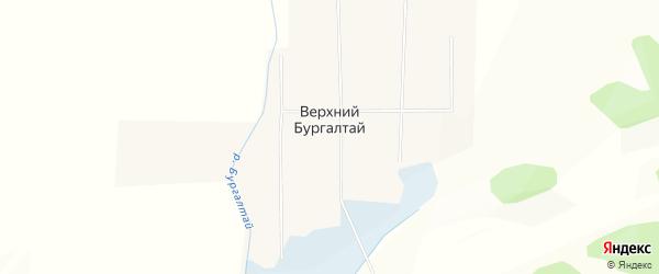Карта улуса Верхнего Бургалтая в Бурятии с улицами и номерами домов