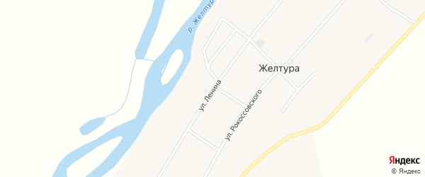 Улица Ленина на карте села Желтуры с номерами домов