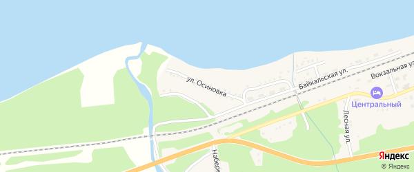 Улица Осиновка на карте Танхоя поселка с номерами домов