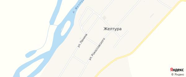 Улица Рокоссовского на карте села Желтуры с номерами домов