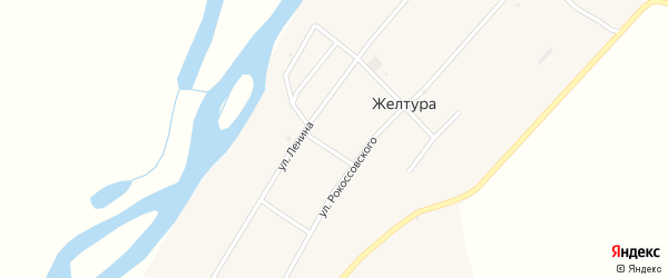 Набережная улица на карте села Желтуры с номерами домов