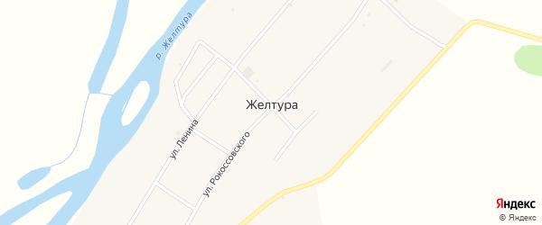 Улица Гагарина на карте села Желтуры с номерами домов