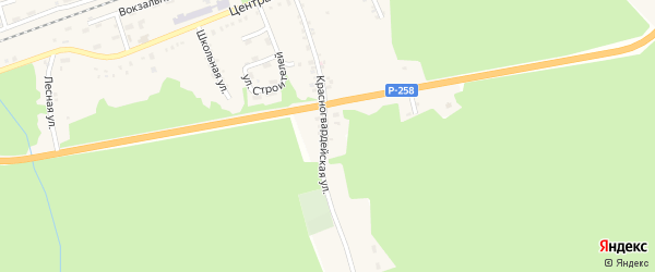 Красногвардейская улица на карте Танхоя поселка с номерами домов