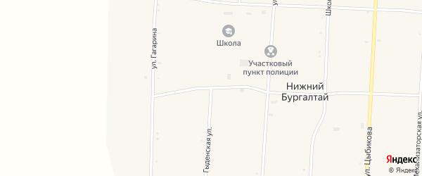 Гыденская улица на карте улуса Нижнего Бургалтая с номерами домов