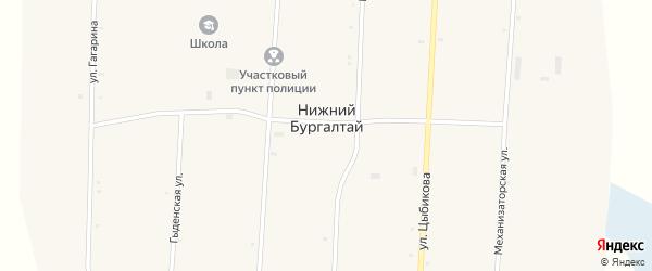 Улица Гагарина на карте улуса Нижнего Бургалтая с номерами домов