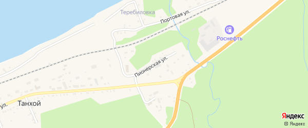 Пионерская улица на карте Танхоя поселка с номерами домов
