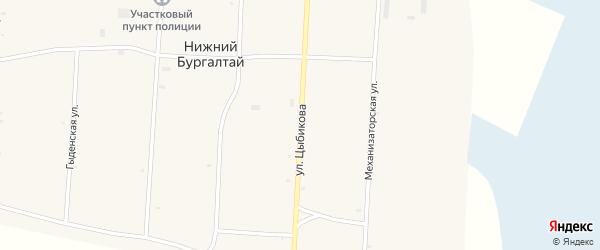 Улица Цыбикова на карте улуса Нижнего Бургалтая с номерами домов