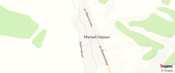 Карта улуса Малого Нарына в Бурятии с улицами и номерами домов
