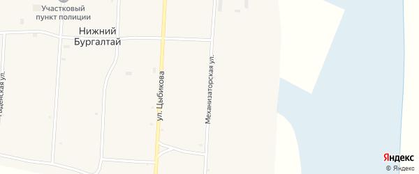 Механизаторская улица на карте улуса Нижнего Бургалтая с номерами домов