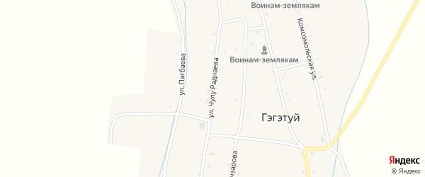 Улица Чулу Раднаева на карте улуса Гэгэтуй с номерами домов