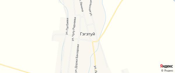 Карта улуса Гэгэтуй в Бурятии с улицами и номерами домов